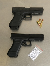 STUDENT STOPPED ON WEAPONS COMPLAINT----TURNS OUT THE GUN WAS FAKE