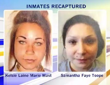 ESCAPED FEMALE INMATES BACK BEHIND BARS