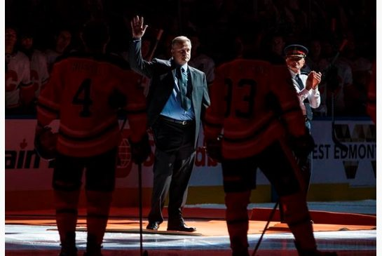 EDMONTON POLICE CONSTABLE HONORED AT OILERS GAME