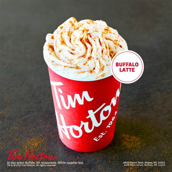 TIM HORTONS IN NEW YORK UNVEILS----THE BUFFALO LATTE