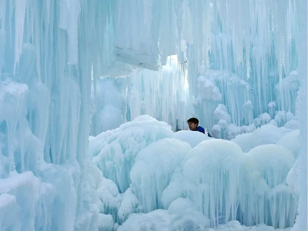 ICE CASTLE OPENS TODAY IN HAWRELAK PARK