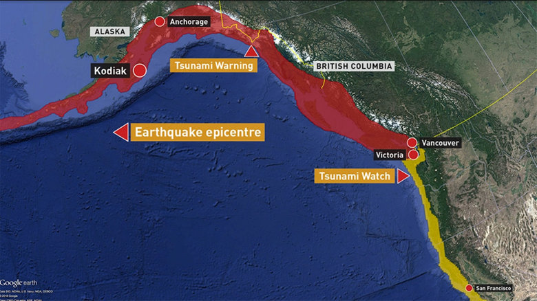 TSUNAMI WARNINGS FOR COASTAL BC HAVE BEEN CALLED OFF