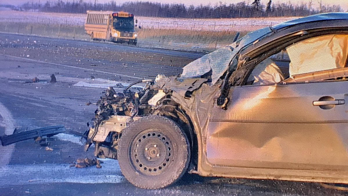 COLLISION WEST OF MORINVILLE