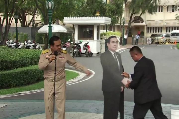THAILAND'S PRIME MINISTER FINDS A NEW WAY TO AVOID REPORTERS' QUESTIONS