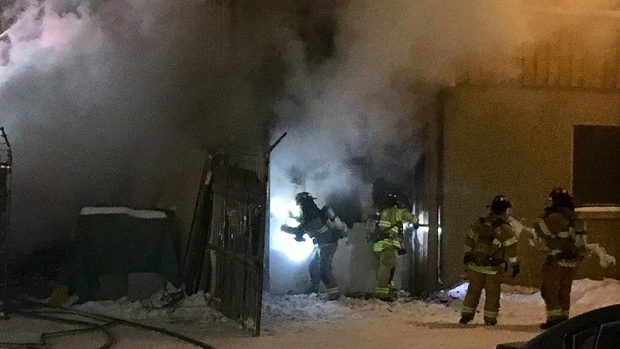 COMMERCIAL BUILDING FIRE NORTH OF DOWNTOWN EDMONTON