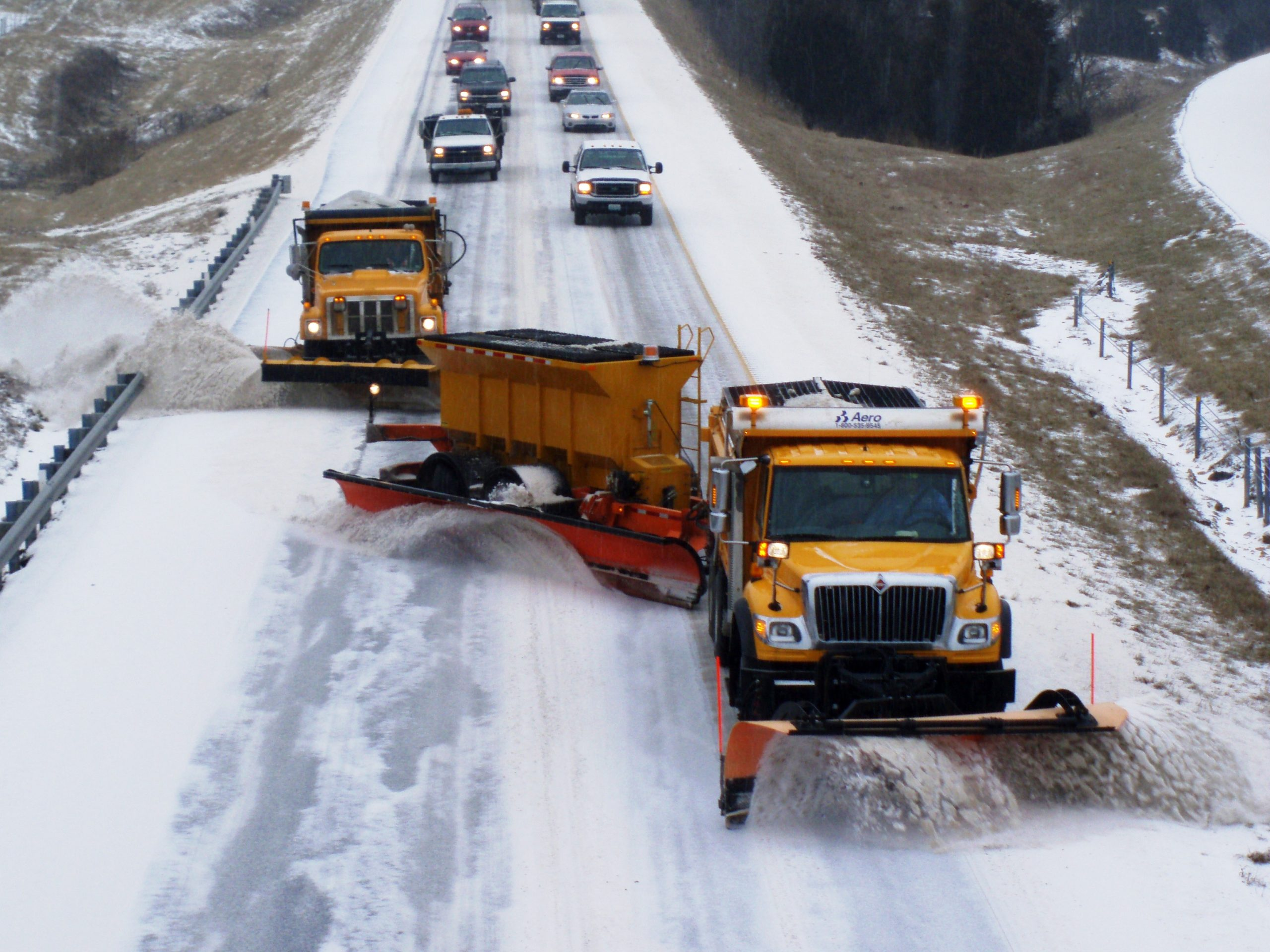 STAY CLEAR OF THE SNOWPLOWS