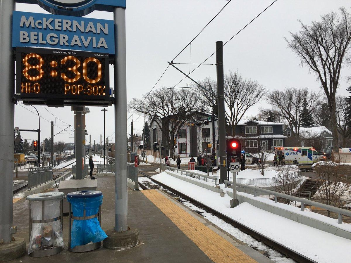 INCIDENT AT EDMONTON LRT STATION THIS MORNING