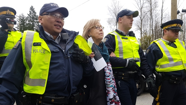 ELIZABETH MAY ARRESTED