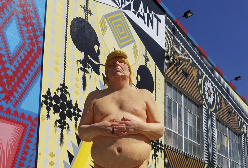 NAKED DONALD TRUMP STATUE UP FOR GRABS