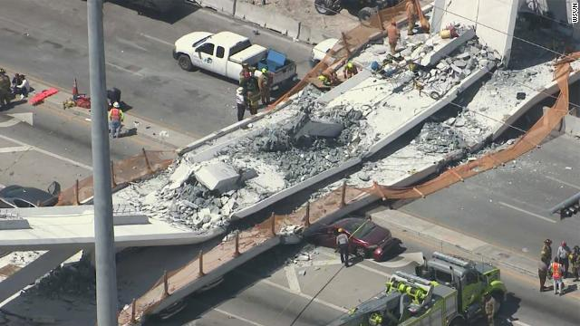 POLICE CONFIRM SIX DEATHS IN FLORIDA BRIDGE COLLAPSE