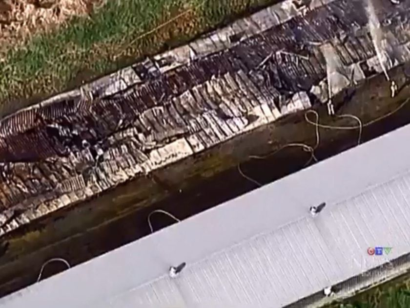 14 THOUSAND CHICKENS DIE IN BARN FIRE