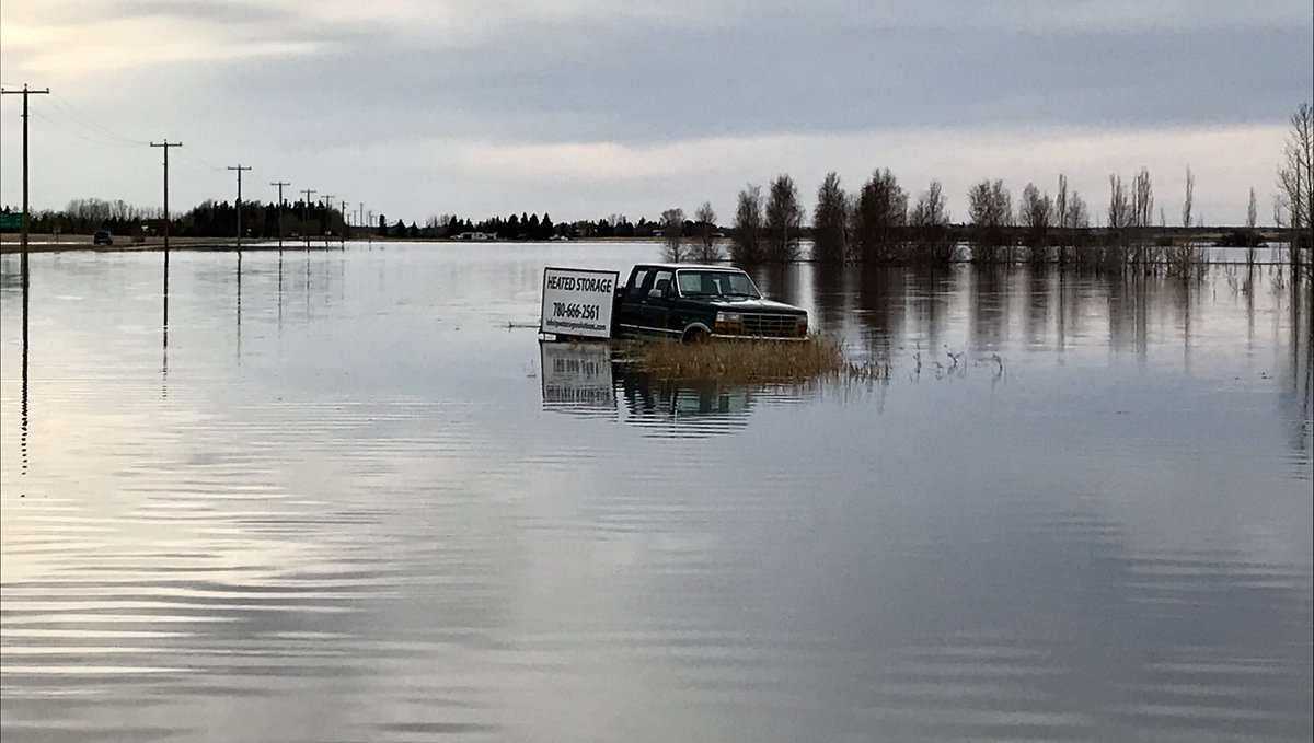FLOODING CONTINUES ACROSS RURAL ALBERTA
