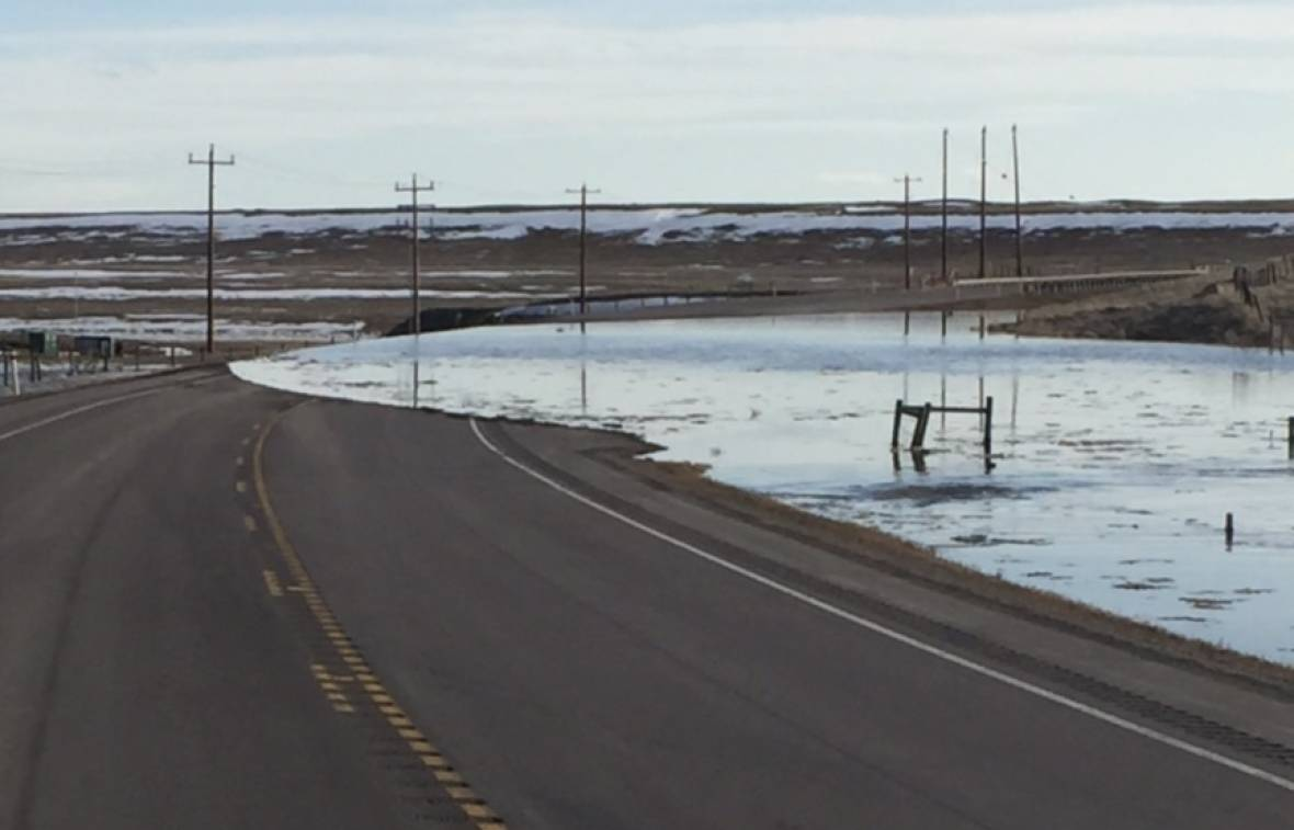 SPRING HAS ARRIVED---BUT THERE IS SOME FLOODING