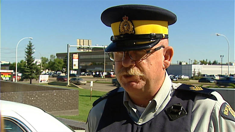 MOUNTIE INJURED IN SHOOTOUT WITH MURDER SUSPECT--OUT OF THE HOSPITAL
