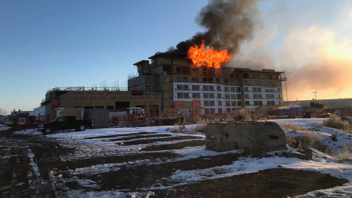 HOTEL FIRE RAGING IN SASKATOON THIS MORNING