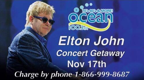 Ocean 100 Elton John Concert Getaway