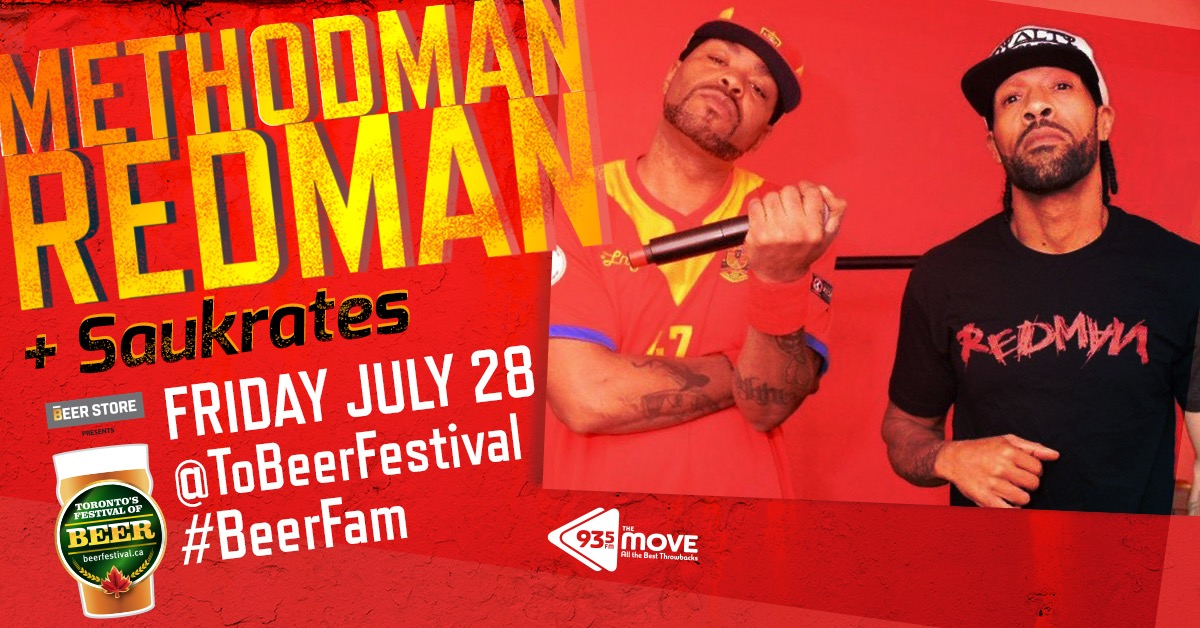 Win a pair of Tickets to see Redman and Method Man at Toronto's Festival of Beer!