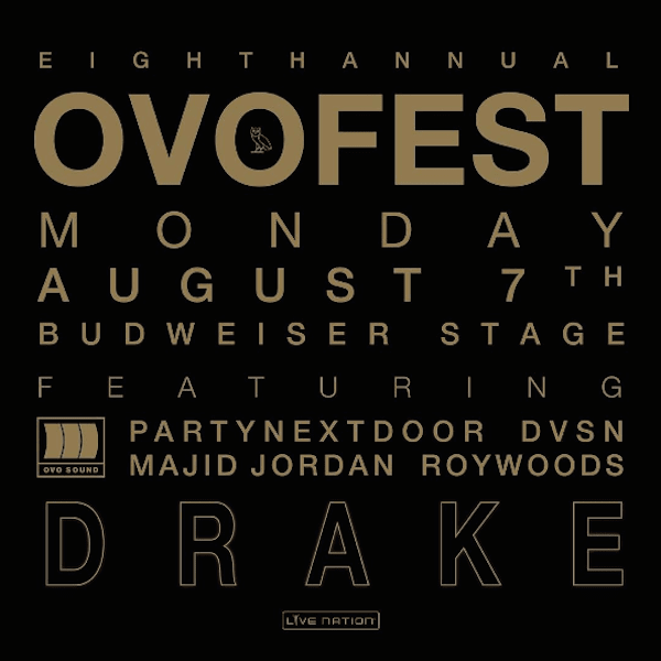 Drake announces 8th Annual OVO Fest lineup!