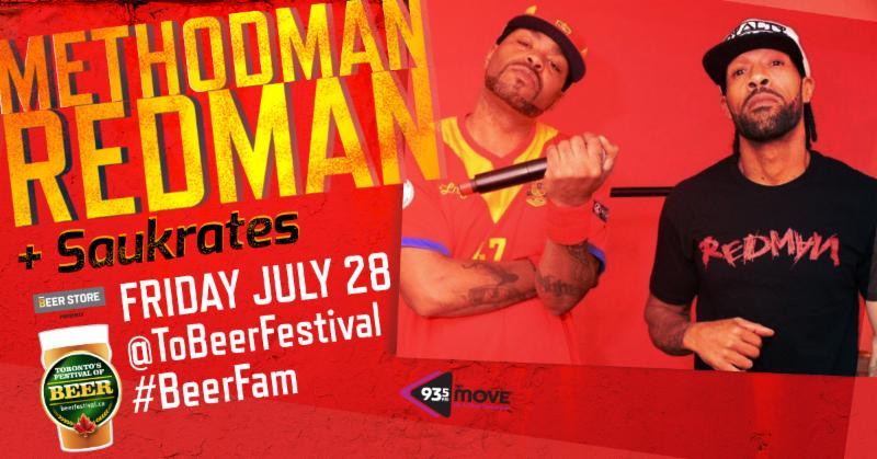Nothin' but 90s @ 9- Win pair of Tickets to see Redman and Method Man at Toronto's Festival of Beer!