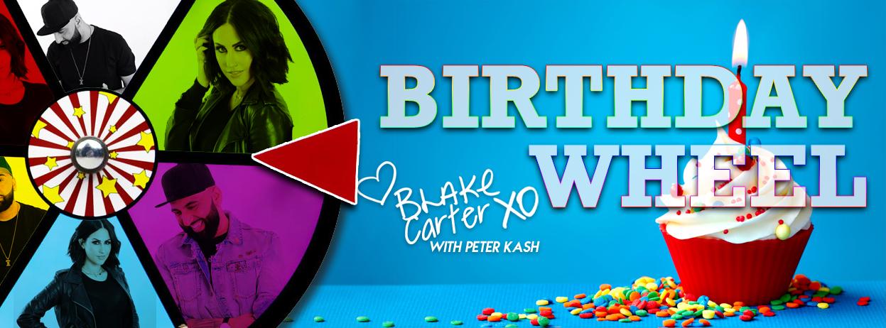 Blake Carter with Peter Kash's Birthday Wheel