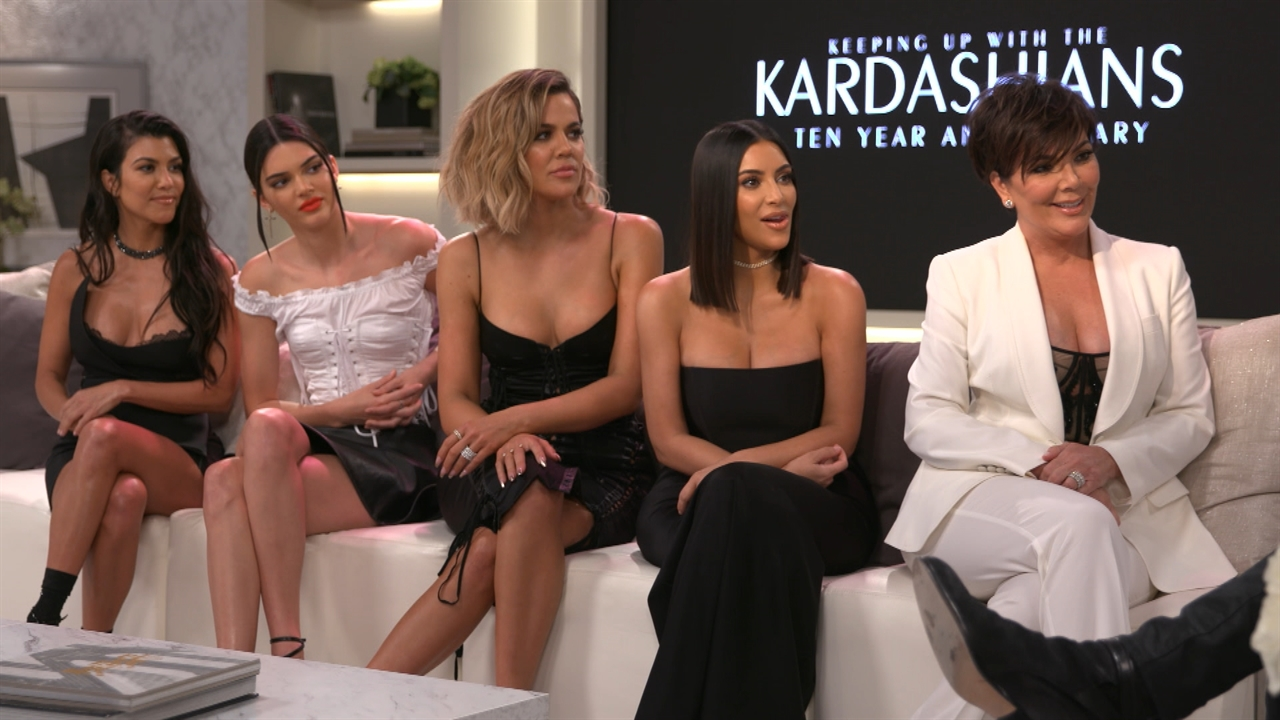 The kardashians react to rumours on the 10th anniversary for 1st season of keeping up with the kardashians