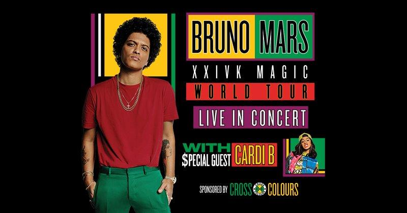 Win tickets to Bruno Mars with Special Guest Cardi B