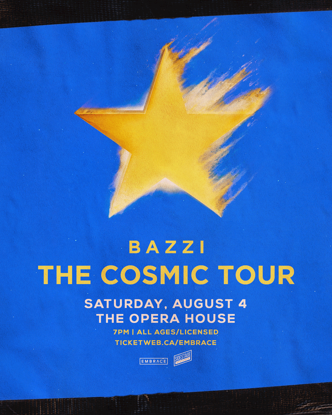 "Listen to win: 2 Tickets to Bazzi ""The Cosmic Tour"""