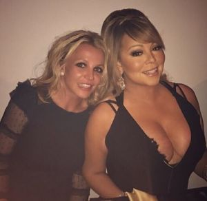 Check out this dinner party!  #BritneyandMariah