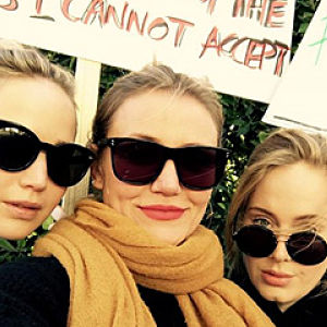 Adele Stands With Her Fellow Women in Rare Public Appearance