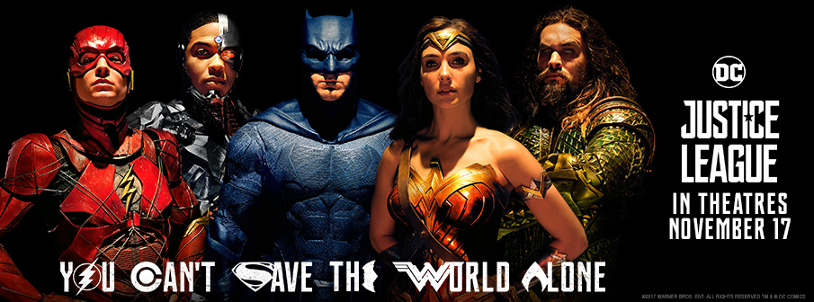 Win your way to JUSTICE LEAGUE